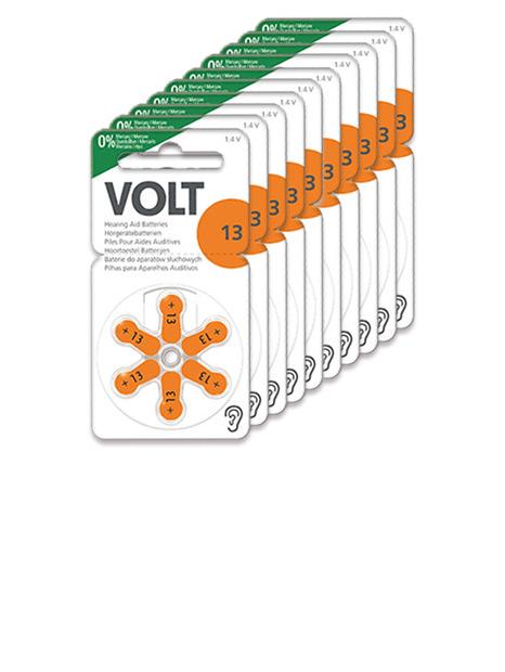 Volt Hörgerätebatterien Größe 13 - 10 Blister