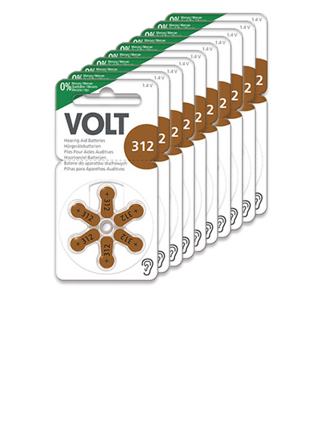 Volt Hörgerätebatterien Größe 312 - 10 Blister